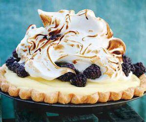pie, food, and berries image