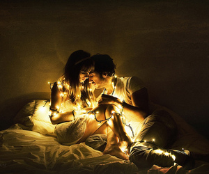 light, couple, and love image