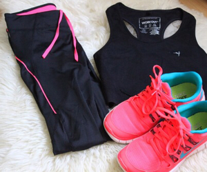 nike, fitness, and sneakers image