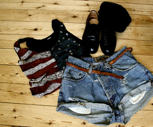 fashion, usa, and shorts image