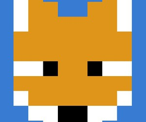 fox, pixelated, and cute image