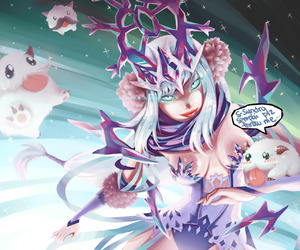 league of legends, poro, and syndra image