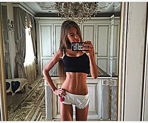 girl, beautiful, and abs image
