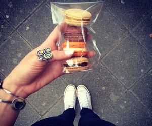accessories, inspiration, and macarons image