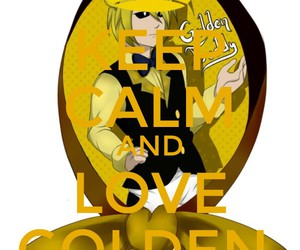 keep calm, fnaf, and golden freddy image