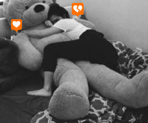 best friend, cuddles, and giant teddy bear image