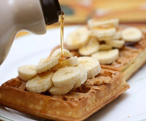 waffles, food, and banana image