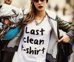 cara delevingne, model, and t-shirt image