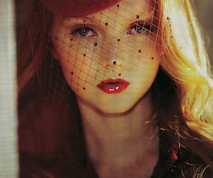 Lily Cole, red, and model image