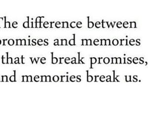 quote, memories, and promises image
