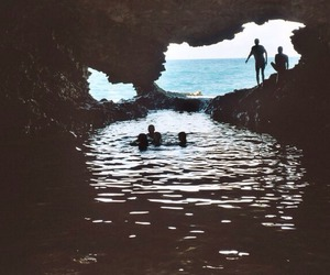 summer, sea, and cave image