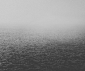 black & white, Darkness, and fog image