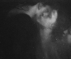black and white, kiss, and ghost image
