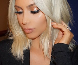 kim, kim kardashian, and blonde image