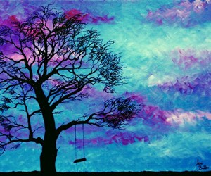 blue, purple, and swing image