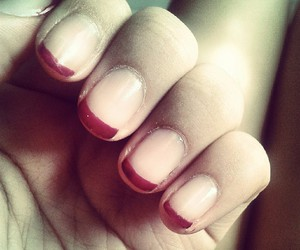 french, pink, and manicure image