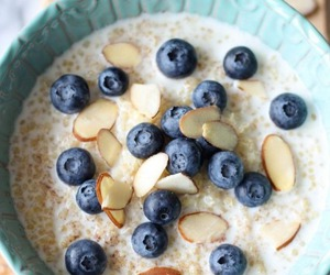 food, almonds, and breakfast image