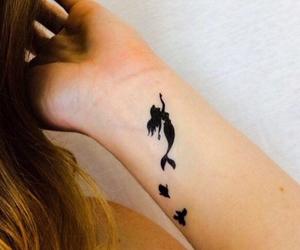 tattoo, ariel, and mermaid image