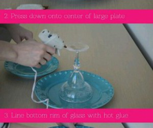diy tray and tiered cake stand image