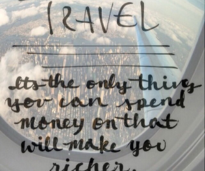 travel, airplane, and quote image
