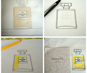 diy chanel, chanel frames, and drawing chanel bottle image