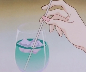 anime, aesthetic, and drink image