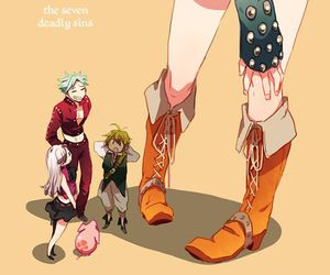 anime, nanatsu no taizai, and los protagonistas image