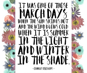 march, quotes, and spring image