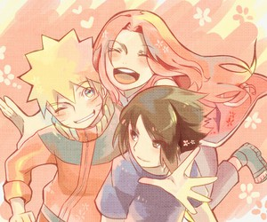 naruto, sasuke uchiha, and sakura image