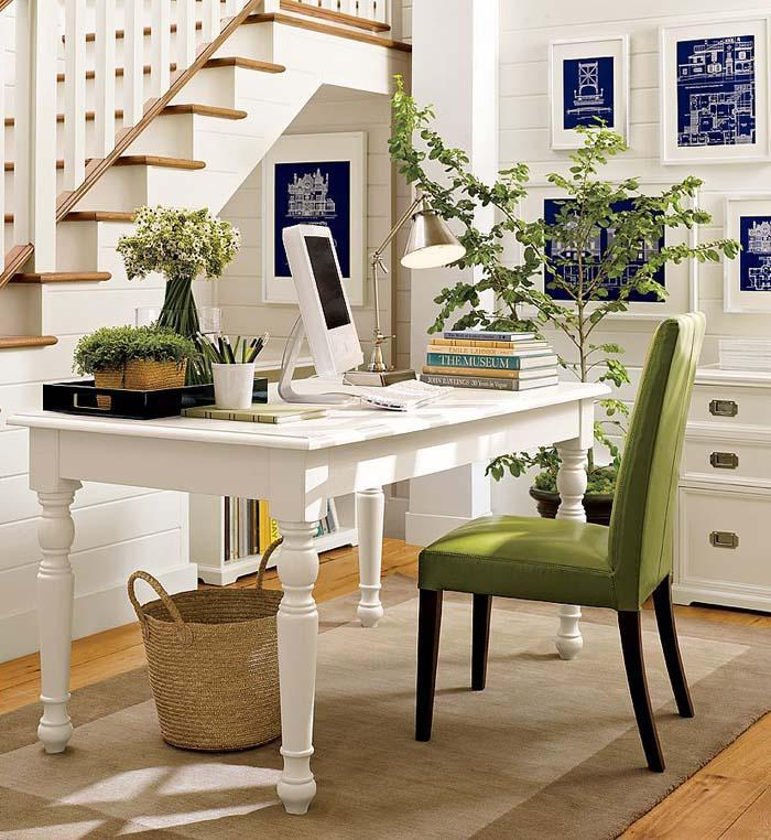 Decoration Home Office Design Ideas Pottery Barn With Green