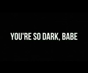 dark, babe, and black image