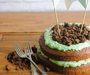 dessert, food, and mint chocolate cake image