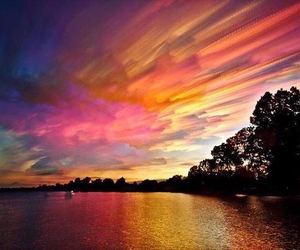 beautiful, sky, and sunset image
