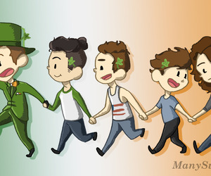 larry, 1d, and liam payne image