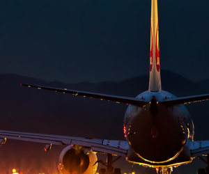 fly, lights, and plane image