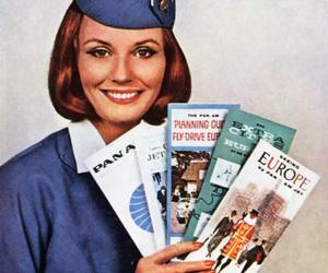 pan am, stewardess, and retro image