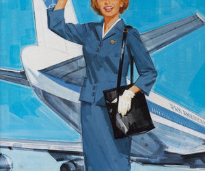 pan am, stewardess, and pan american airways image