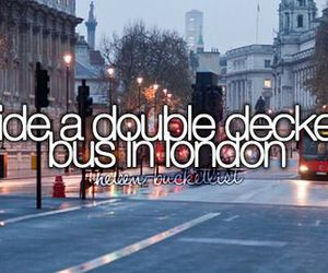 london, bucket list, and bus image
