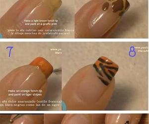 nails, nail art, and animal print image