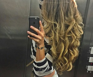 hair, curls, and style image