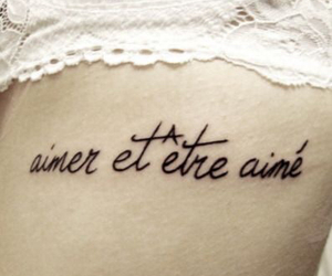 tattoo, quote, and french image
