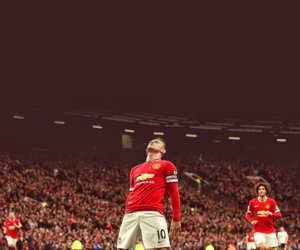 captain, wayne rooney, and red devils image