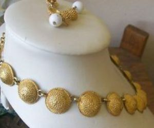 gold, demi parure, and metal image