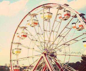 vintage, sky, and ferris wheel image
