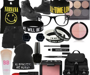 black, Polyvore, and cats image