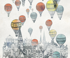 balloons, art, and city image