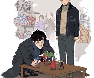 sherlock, Avengers, and Marvel image