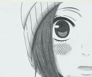 black & white, kawaii, and manga image