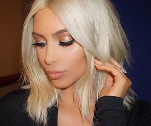kim, kim kardashian, and blonde image