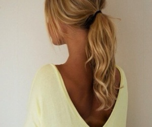 blonde, ponytail, and chic image